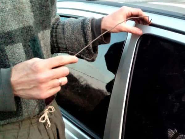 открывание авто проволокой